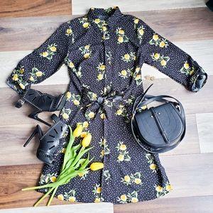 Shein floral print dress